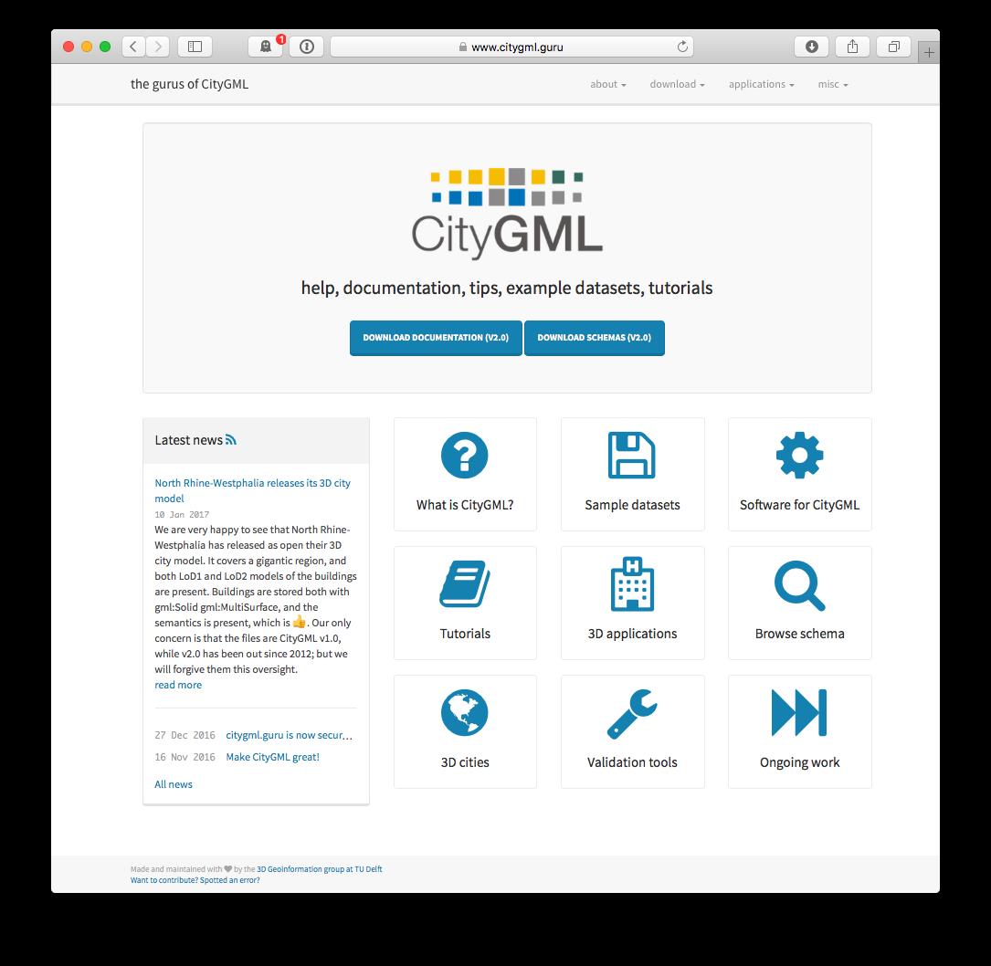 www citygml org: CityGML help, documentation, tips, example
